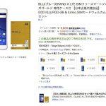 格安スマホ 9,800円 BLU(ブルー)GRAND X LTE SIMフリースマートフォン 専用ケース付 【日本正規代理店品】 G0010JJ& IIJmio SIMカードウェルカムパック セット